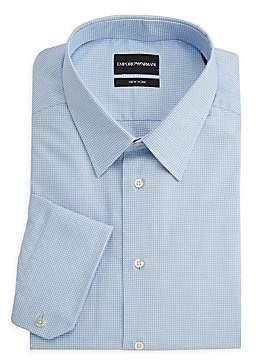 Emporio Armani Men's Micro-Check Cotton Dress Shirt