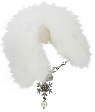 Miu Miu Fur Charm Bracelet