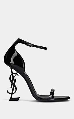 Saint Laurent Women's Opyum Patent Leather Sandals - Black