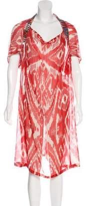 Dries Van Noten Semi-Sheer Midi Dress