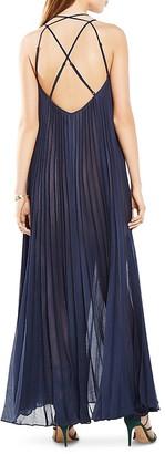 BCBGMAXAZRIA Isadona Pleated Maxi Dress $298 thestylecure.com