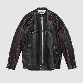 "Gucci ""Magnetismo Animale"" studded leather jacket"