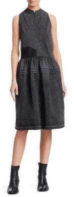 Junya Watanabe Cotton Denim Crossback Dress