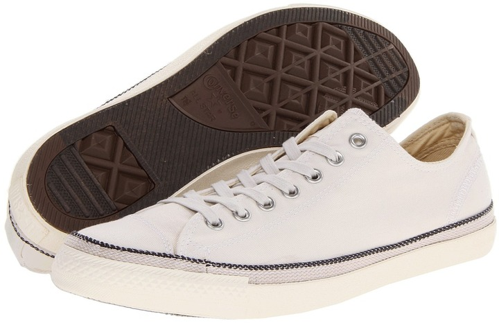 Converse Chuck Taylor All Star LP (White Sand Washed Twill) - Footwear