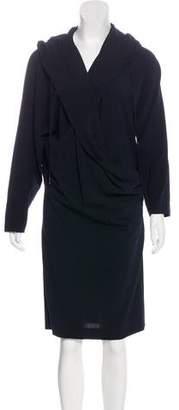 Max Mara Hooded Knee-Length Dress