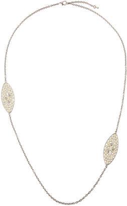 Roberto Coin Bollicine 18k White Gold Long Enameled 2-Station Necklace w/ & Diamonds