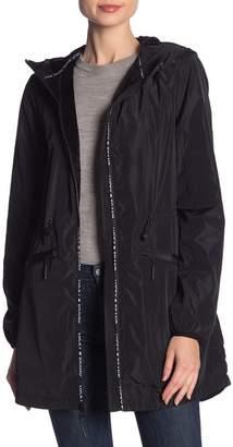 Lucky Brand Logo Zip Hooded Anorak Jacket