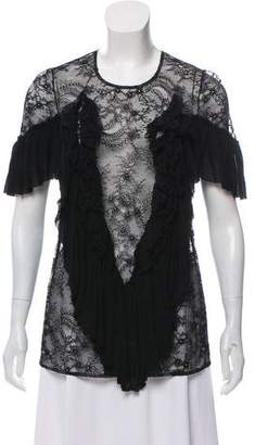 Givenchy Fluted Lace Top