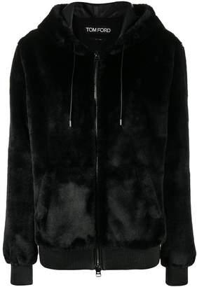 Tom Ford (トム フォード) - Tom Ford zipped shearling hoodie