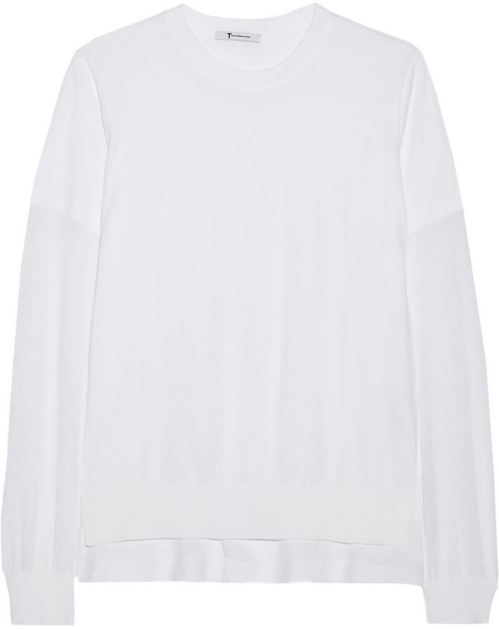 Alexander Wang Knitted cotton-blend top