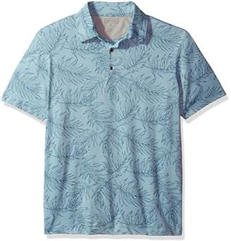 Van Heusen Men's Air Print Self Collar Polo