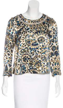 Chloé Printed Embellished Top
