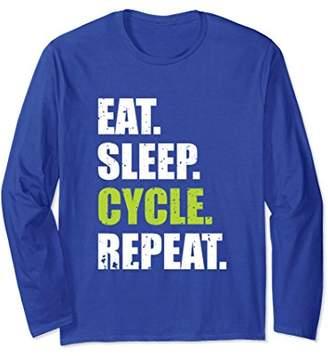 Eat Sleep Cycle Repeat Long Sleeve T-Shirt