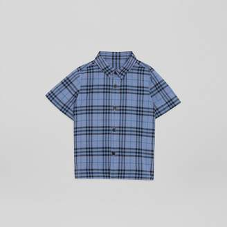 Burberry Childrens Short-sleeve Check Cotton Shirt