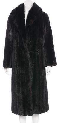 Oscar de la Renta Sable & Mink Fur Coat