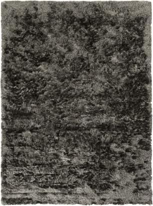 Surya JSP8002 Jasper Plush Hand Woven 100% Polyester Dark Gray Rug (8-Feet x 11-Feet )