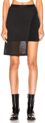 Alyx Double Layer Knit Skirt in Black | FWRD