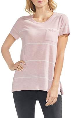 Vince Camuto Stripe One-Pocket Tee