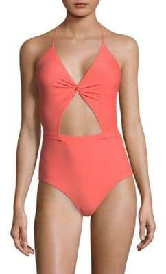 6 Shore Road by Pooja Divine One-Piece Cutout Swimsuit