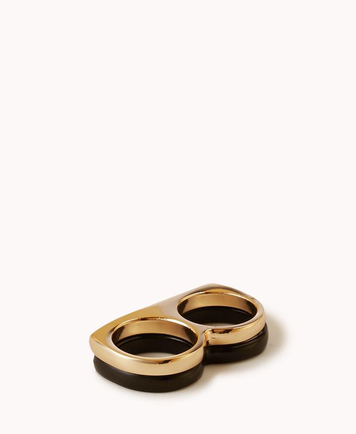 Forever 21 Two-Finger Ring Set