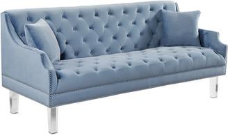 Roxy Verlaine Sky Blue Velvet Sofa