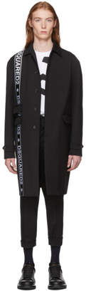 DSQUARED2 Black Wool Cady Coat