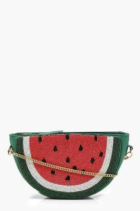 boohoo Beaded Watermelon Cross Body