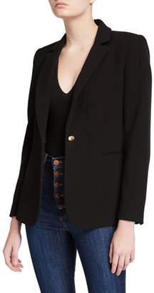 Alice + Olivia Bristol Notch-Collar Fitted Blazer
