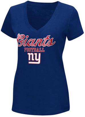 G-iii Sports Women's New York Giants Playoff Glitter T-Shirt