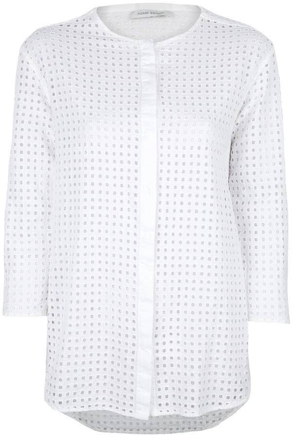 Balmain Pierre Perforated blouse