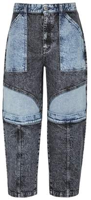 Stella McCartney Faded Patchwork Straight-leg Jeans