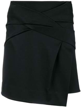 Helmut Lang draped knot skirt