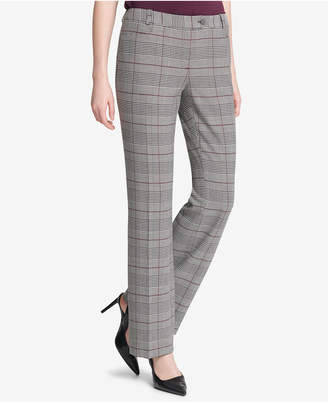 Calvin Klein Glen Plaid Modern Ankle Pants, Regular & Petite