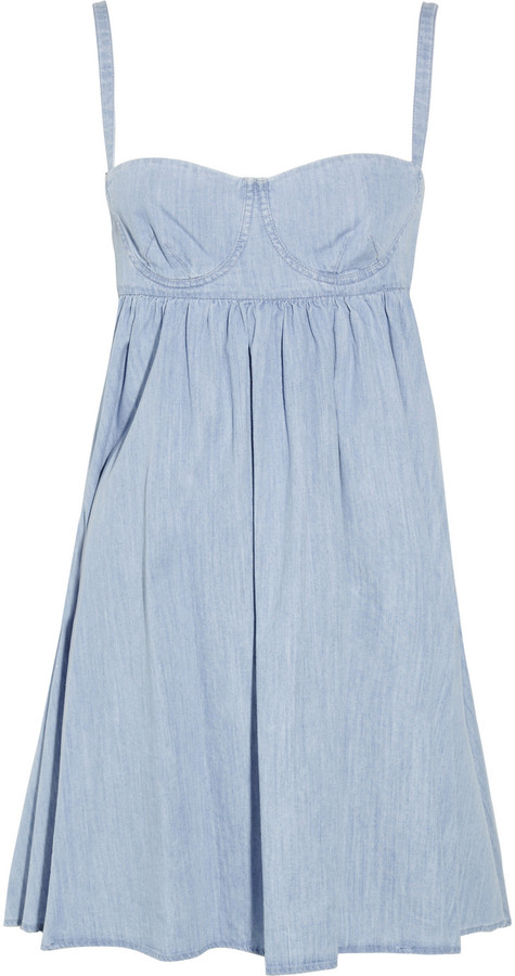 See by Chloe Denim bustier dress