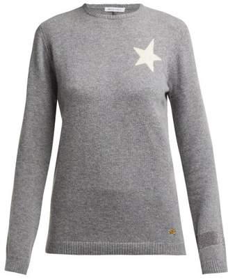 Bella Freud Billie Star Intarsia Cashmere Sweater - Womens - Grey