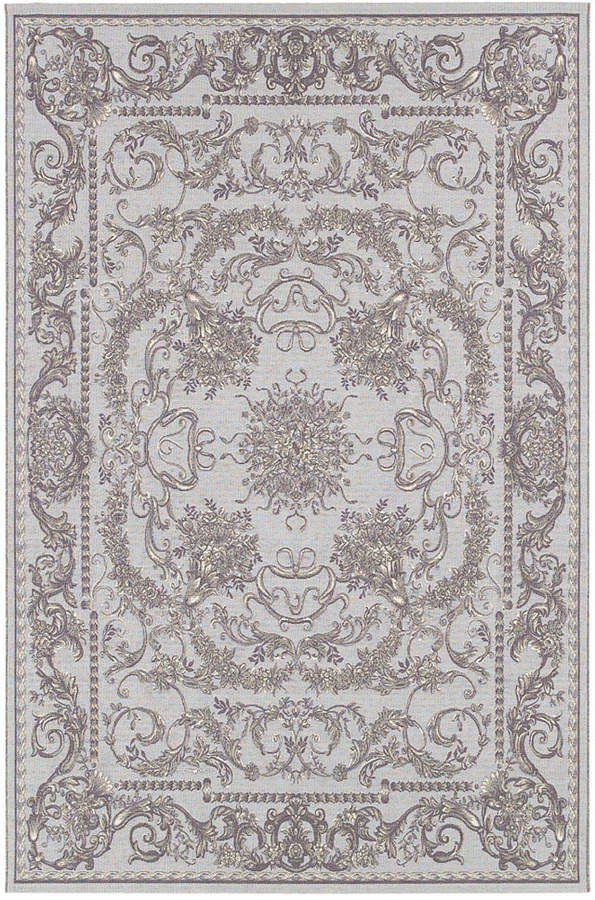 "Couristan Couristan Indoor/Outdoor Runner Rug, Dolce 4079/7475 Messina Sky Blue/Grey 2'3"" x 7'10"""