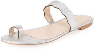 Loeffler Randall Petal Metallic Toe-Ring Flat Sandal