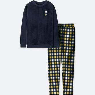 Uniqlo Women's Peanuts Long-sleeve Fleece Set