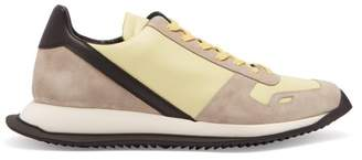 Rick Owens Panelled Leather Low Top Trainers - Mens - Yellow Multi