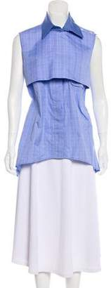 Ellery Sleeveless Button-Up Top w/ Tags