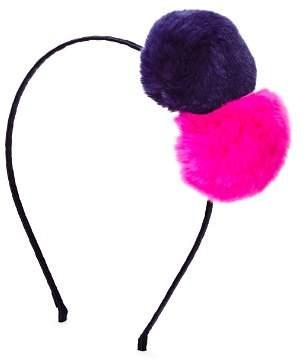 GiGi Girls' Fur Pom-Pom Headband - 100% Exclusive