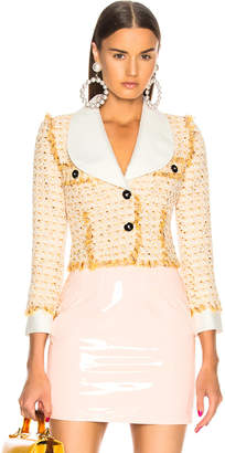 Alessandra Rich Tweed Mini Jacket