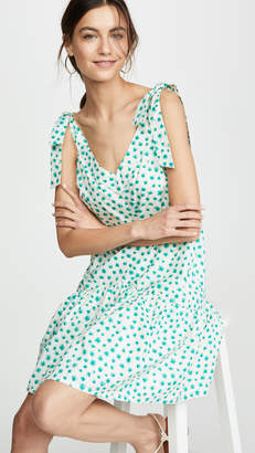 Rebecca Taylor Sleeveless Emerald Daisy Print Dress