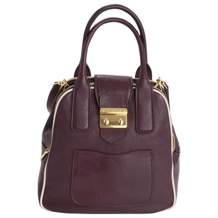 Miu MiuBurgundy Leather Handbag Madras