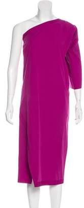 Bottega Veneta One-Shoulder Midi Dress One-Shoulder Midi Dress