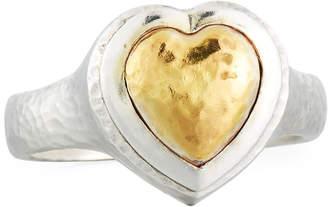 Gurhan Romance Two-Tone Heart Ring, Size 7