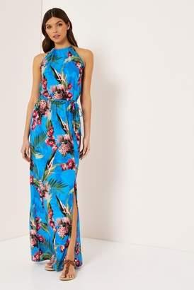 Next Lipsy Tropical High Neck Maxi Dress - 6