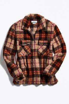 Urban Outfitters Ryder Flannel Zip Shirt
