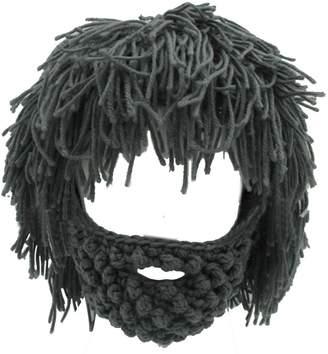 611336f68c0ac Lerben Men Women Knit Bearded Hats Handmade Wig Winter Warm Ski Mask Beanie