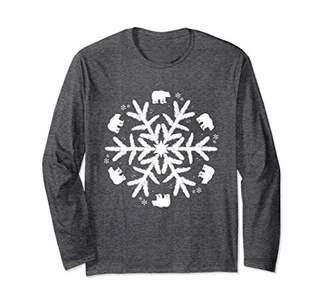 Bear Long Sleeve T-Shirt Snowflake Pattern Shirt